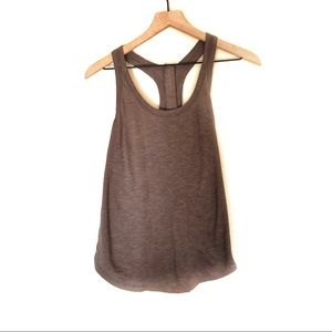 Banana Republic Brown Zipper Back Tank Top
